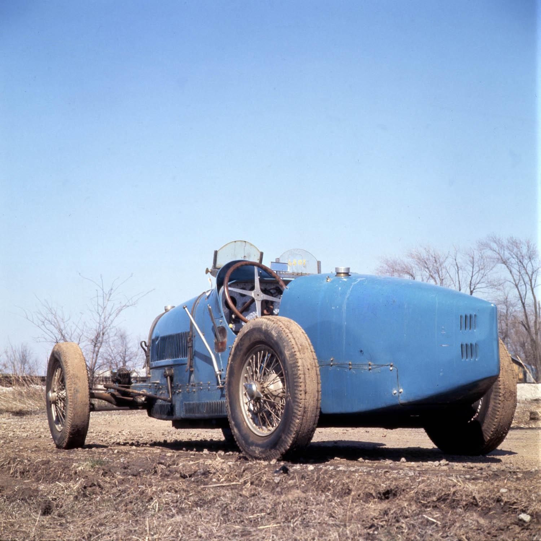 Bugatti in field