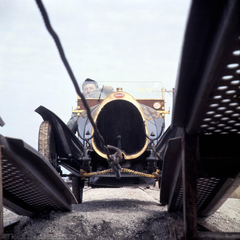 Bugatti being loaded