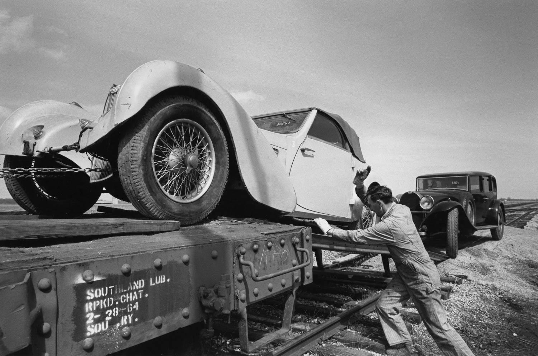 Bugatti on the train