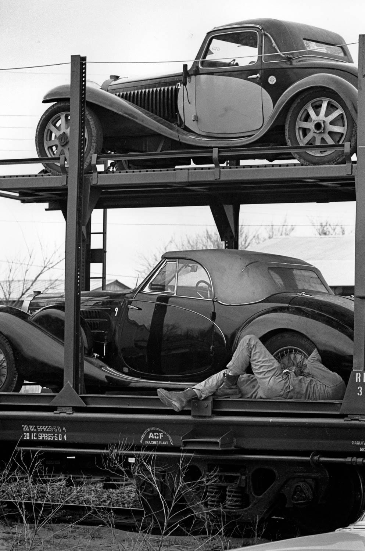 Bugattis being shipped