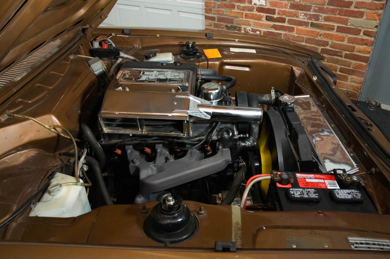 1973 Mercury Capri under the hood
