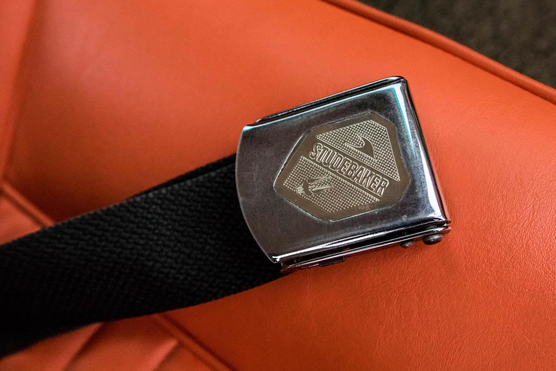 1963 Studebaker Avanti seat belt detail