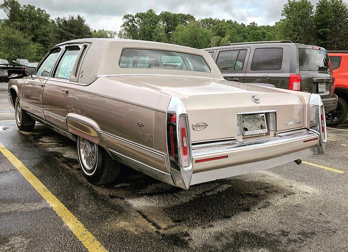 1992 Cadillac Brougham rear 3/4