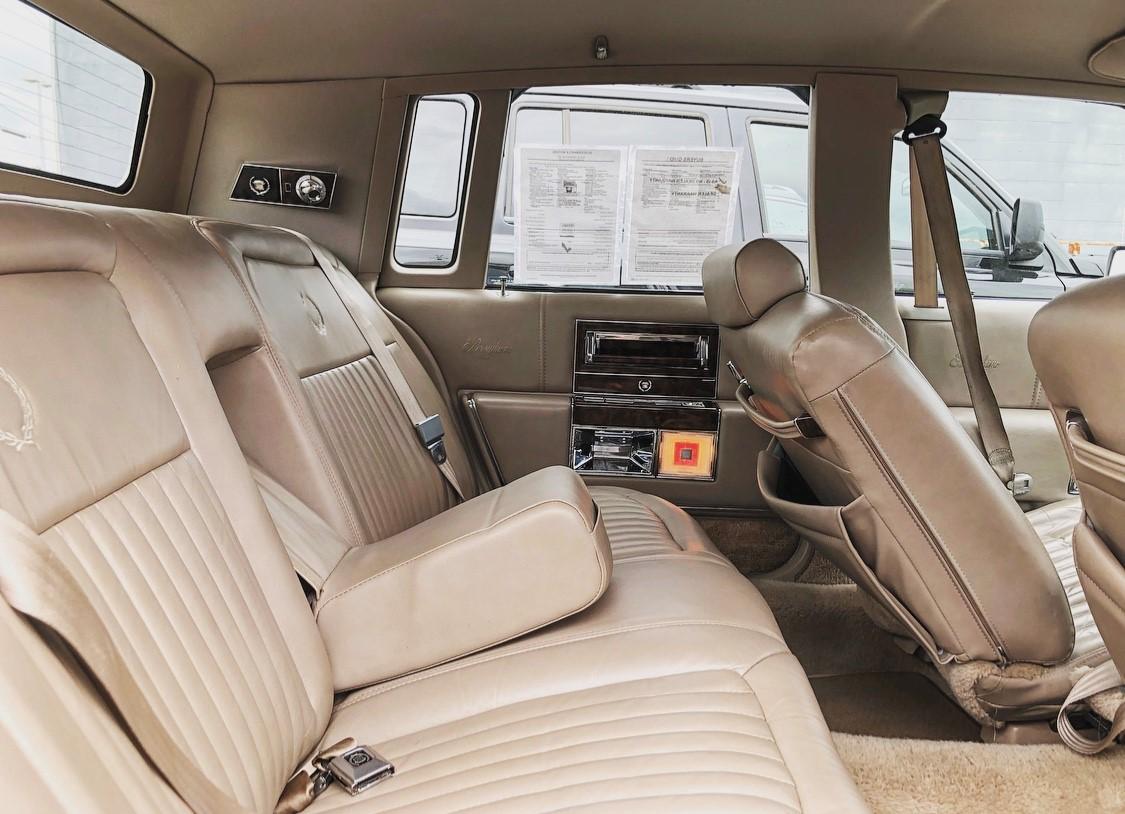 1992 Cadillac Brougham back seat