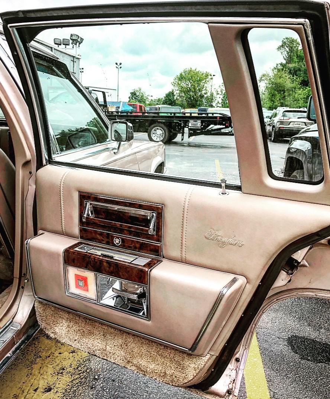 1992 Cadillac Brougham door detail