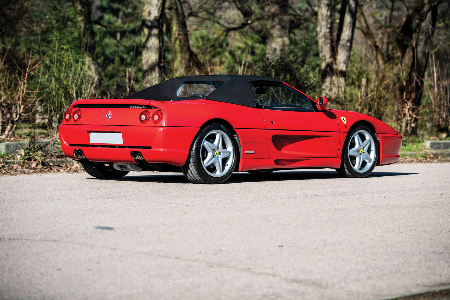 1997 Ferrari F355 Spider rear 3/4