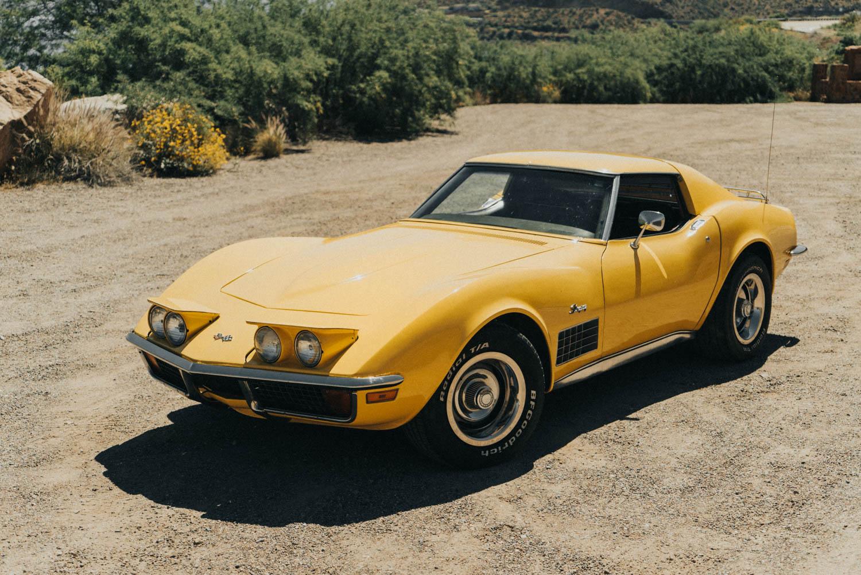 1972 Chevrolet Corvette front 3/4
