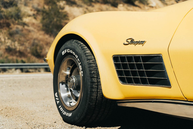 1972 Chevrolet Corvette wheel detail