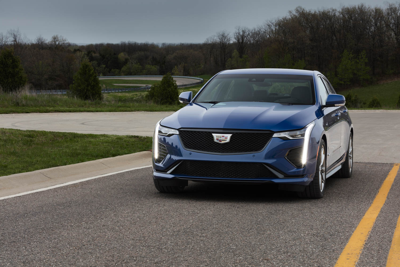 2020 Cadillac CT4-V front 3/4