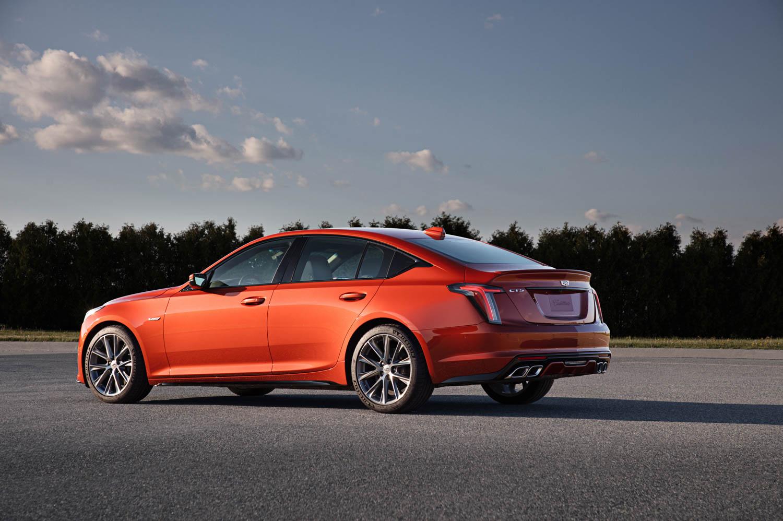 2020 Cadillac CT5-V rear 3/4