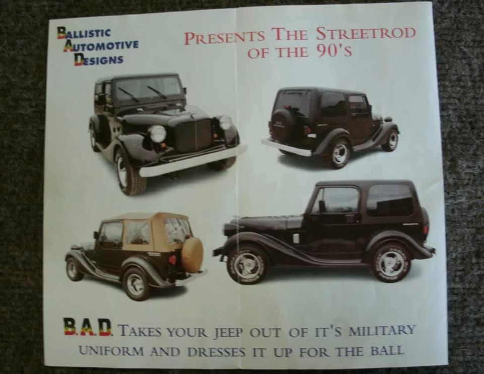 1999 Ballistic Automotive Designs advertisement
