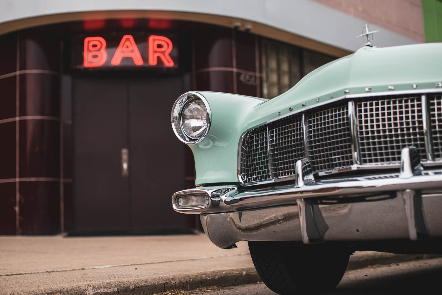 Continental in front of the Willis Show Bar