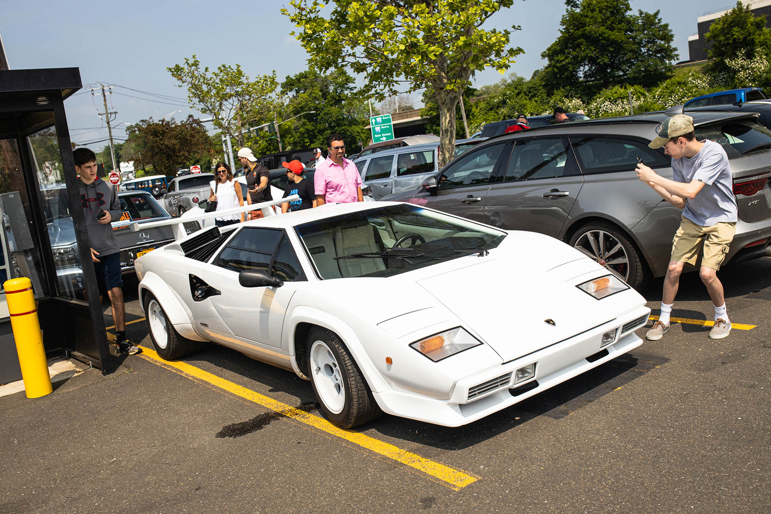 Greenwich Concours parking lot Countach