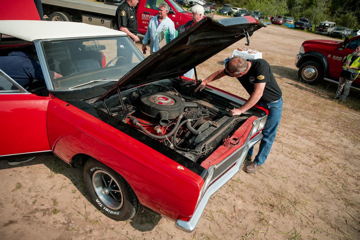 1969 Plymouth GTX engine bay