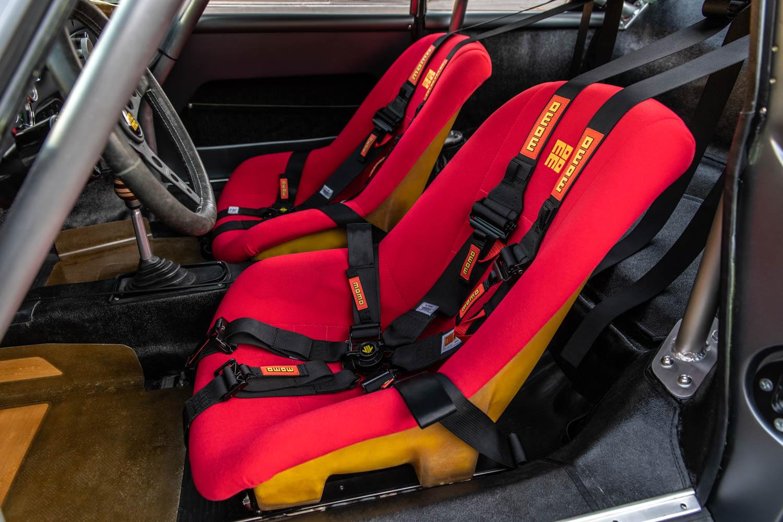 Emory Motorsports Porsche 356 RSR seat detail