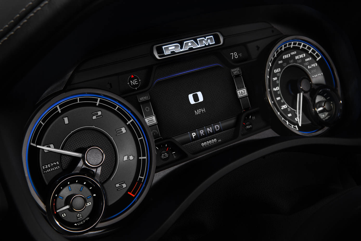 2020 RAM 1500 EcoDiesel Limited gauges