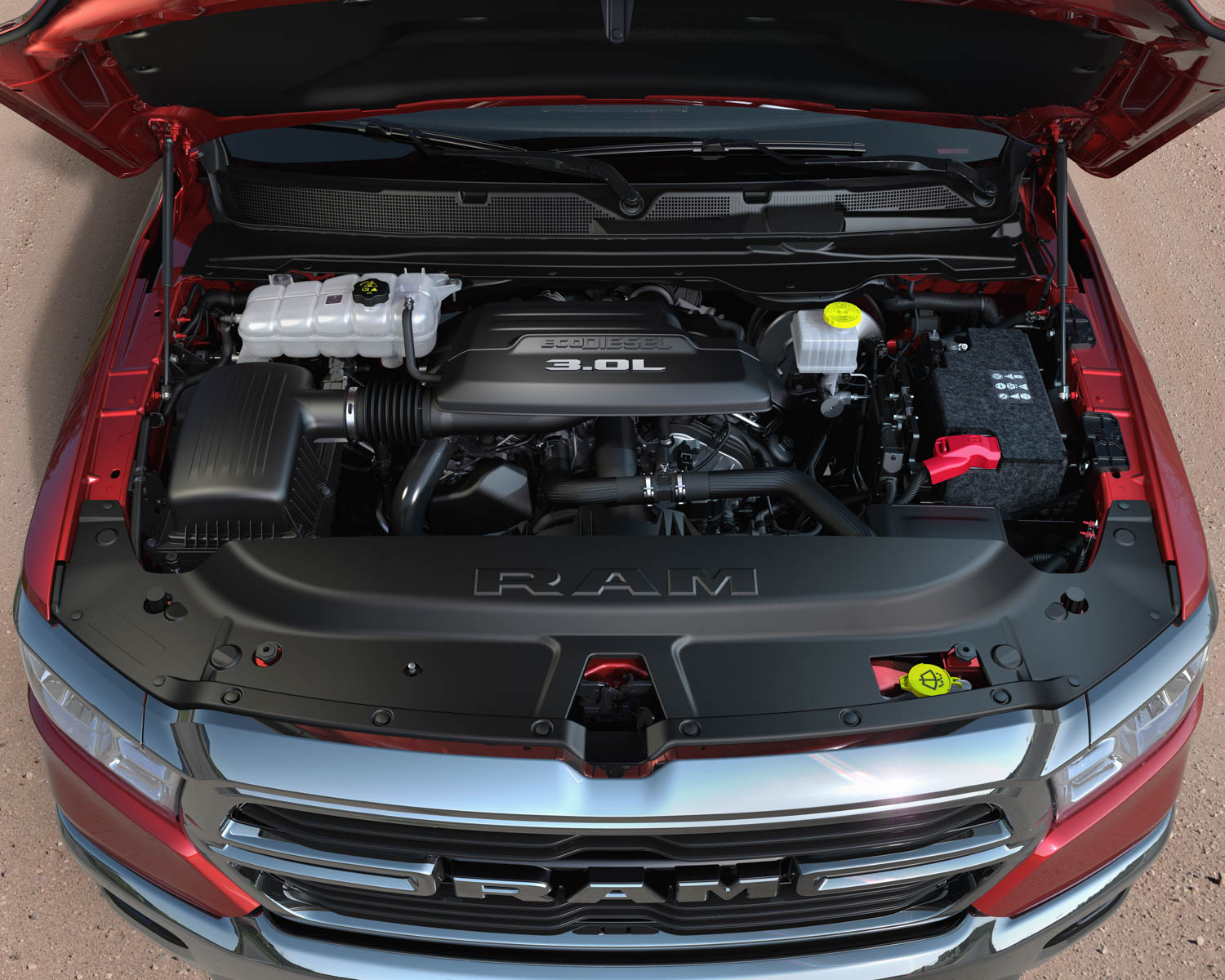 2020 Ram 1500 EcoDiesel under the hood