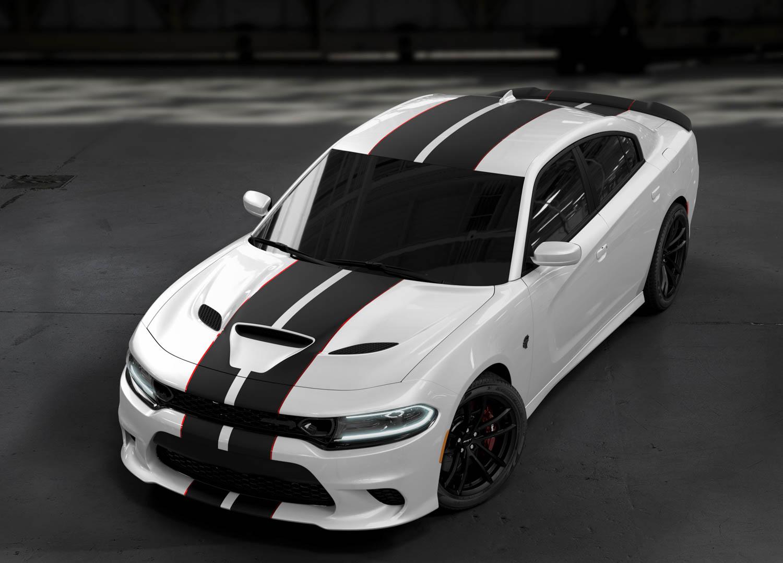 white 2019 Dodge Charger SRT Hellcat Octane Edition