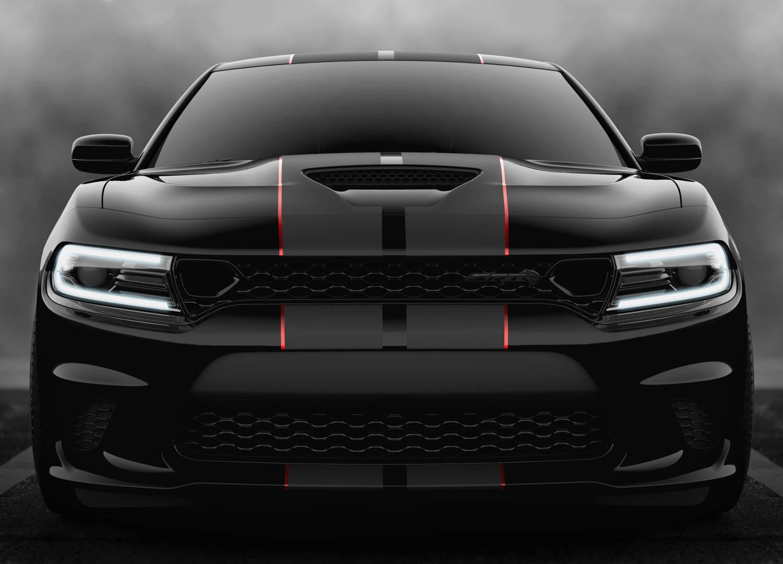 black 2019 Dodge Charger SRT Hellcat Octane Edition front
