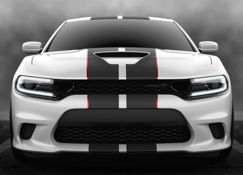 white 2019 Dodge Charger SRT Hellcat Octane Edition front