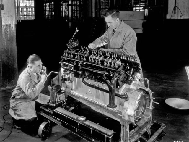 Threatened by Chevy, Henry Ford produced a V-8 for the masses