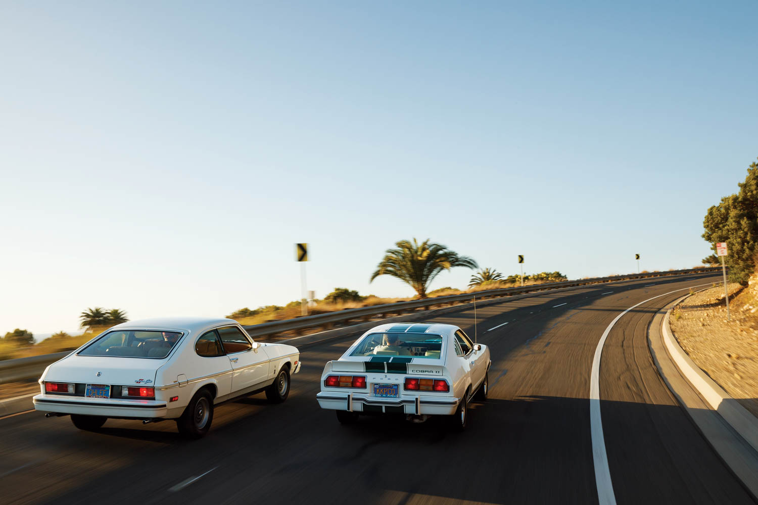 Despite being way down on displacement, the Capri had no problem keeping up with the V-8 Cobra as we meandered through Palos Verdes, California.