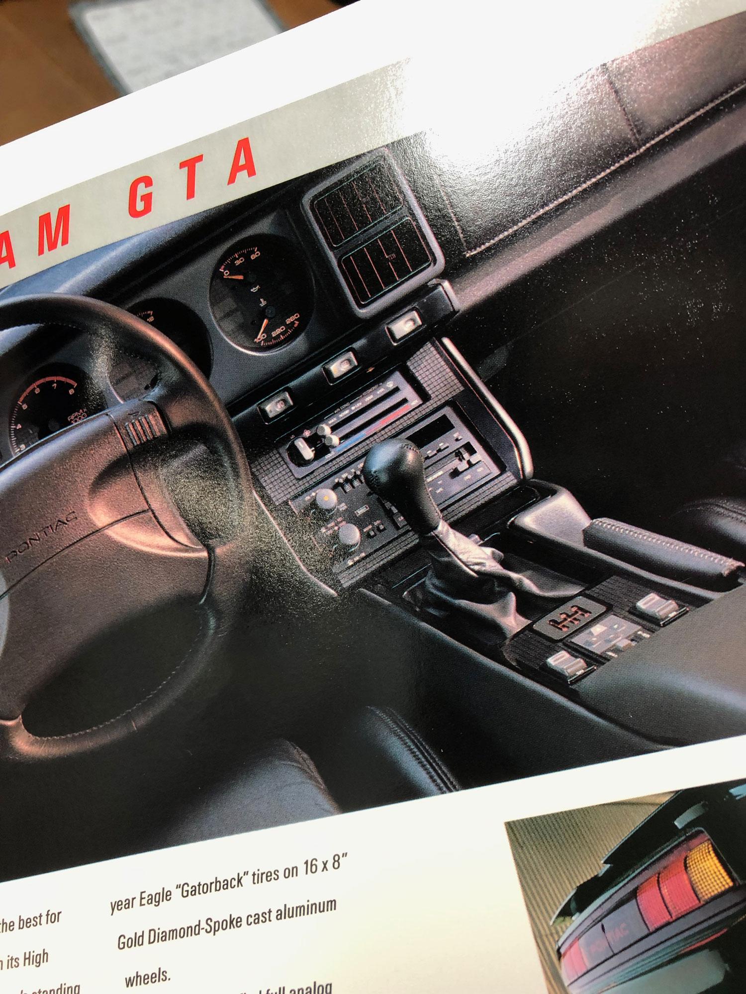 1991 Firebird Factory Brochure