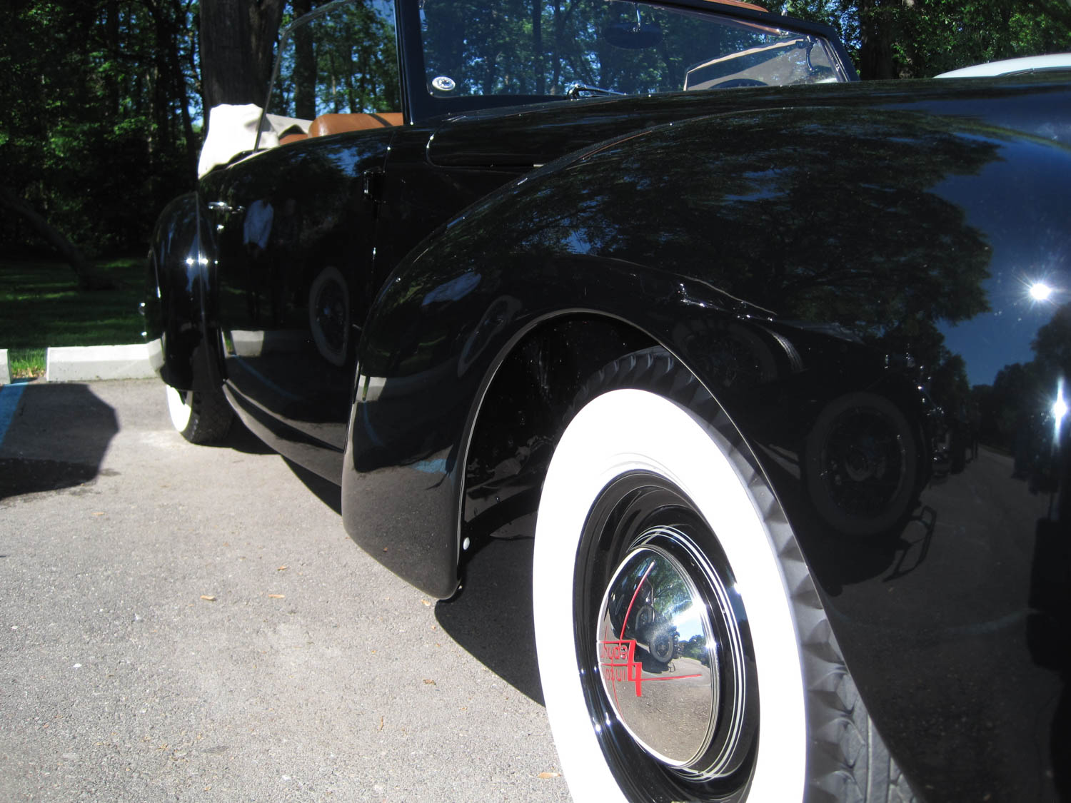 1939 Lincoln Continental prototype wheel detail