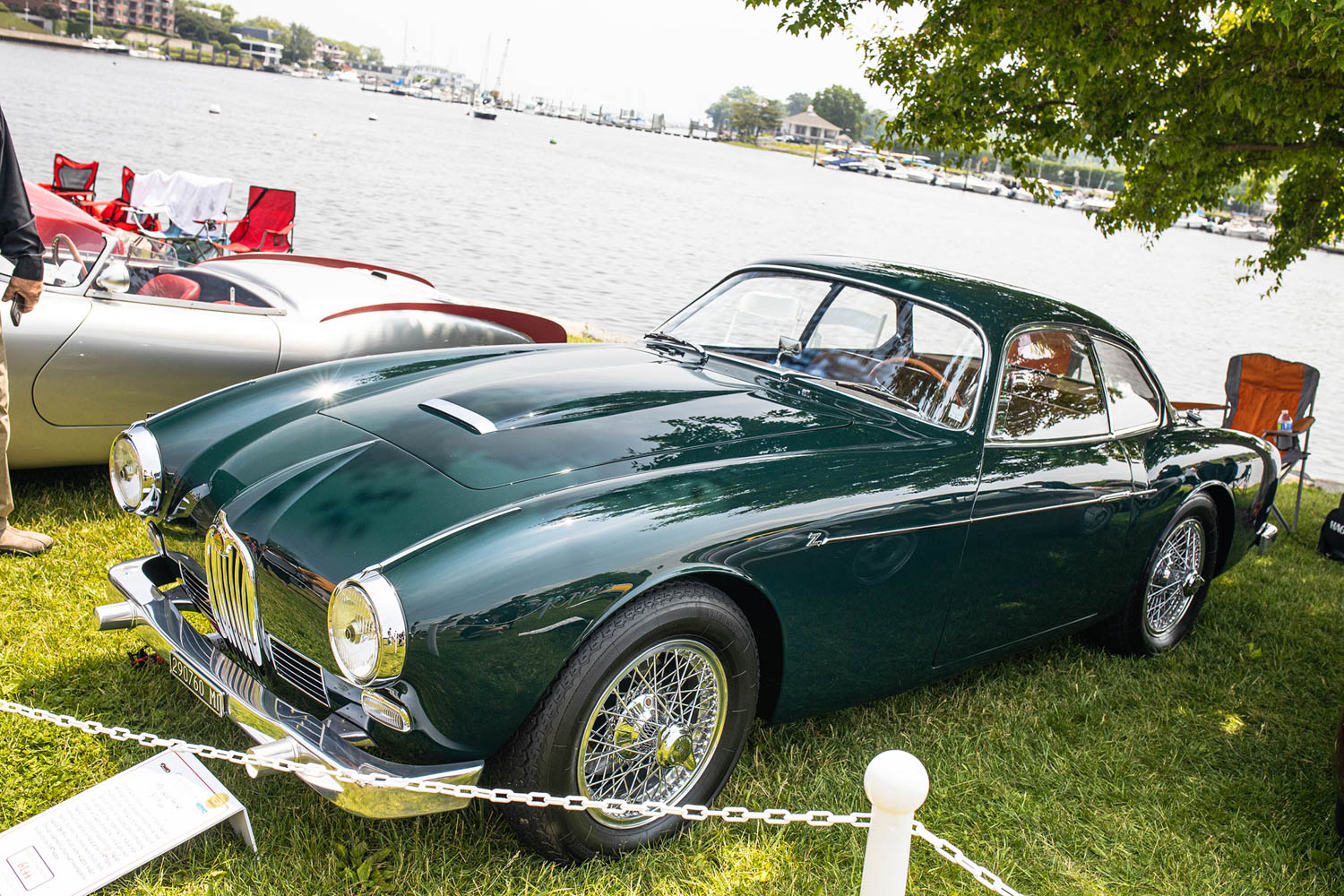 green 1958 Jaguar XK140 Zagato