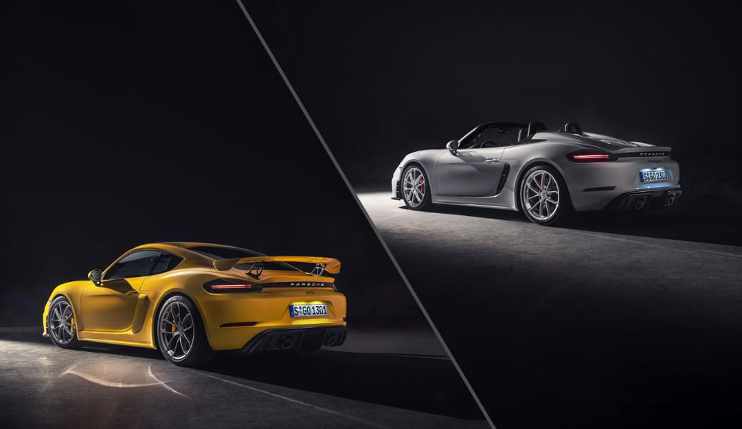 Porsche brings a six-cylinder back to the Cayman and Spyder