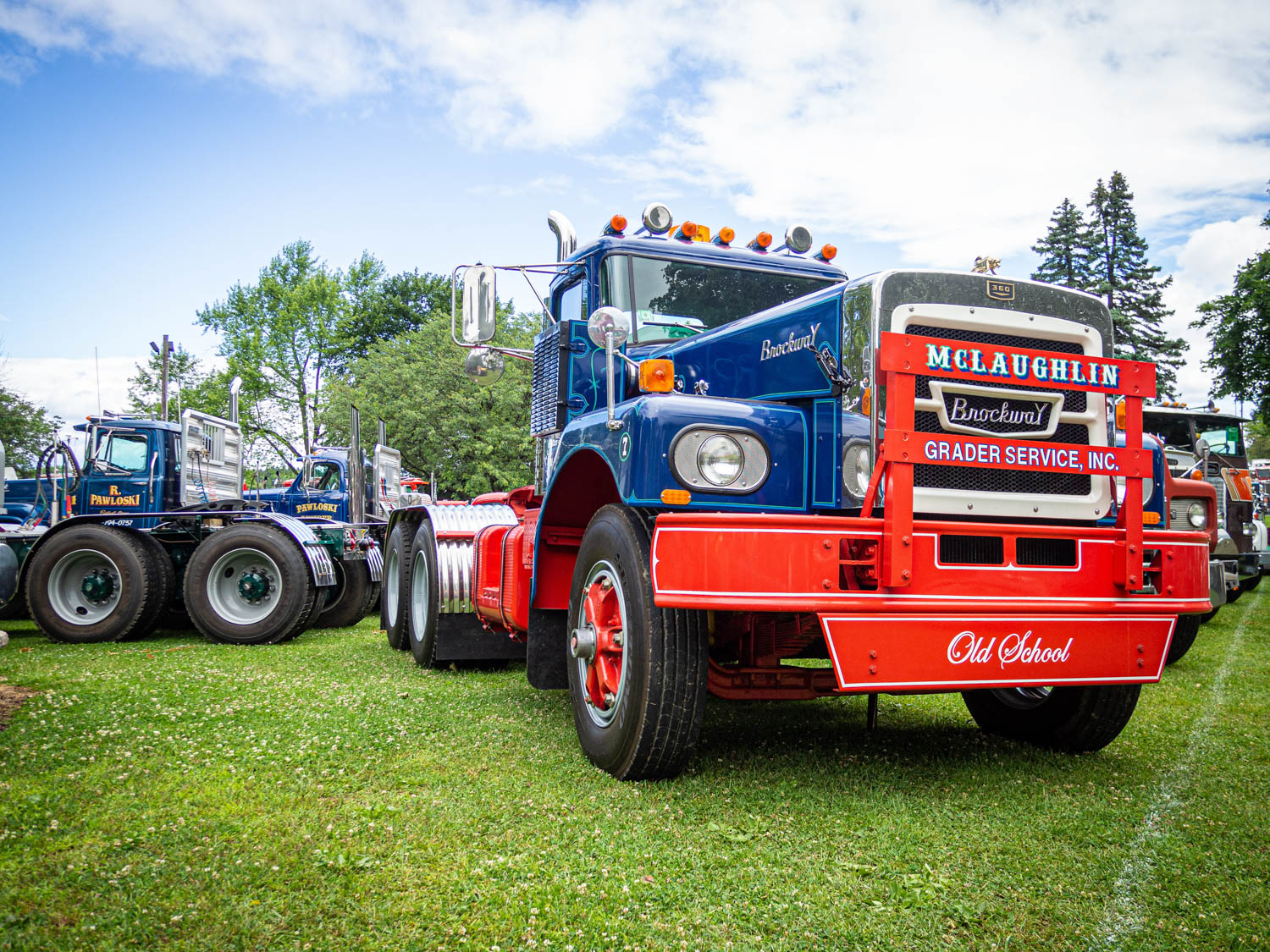 Brockway trucks were built in Cortland, New York, from 1912–77, and you don't really see them on the road anymore. This 1973 H360 TL was beautifully restored.