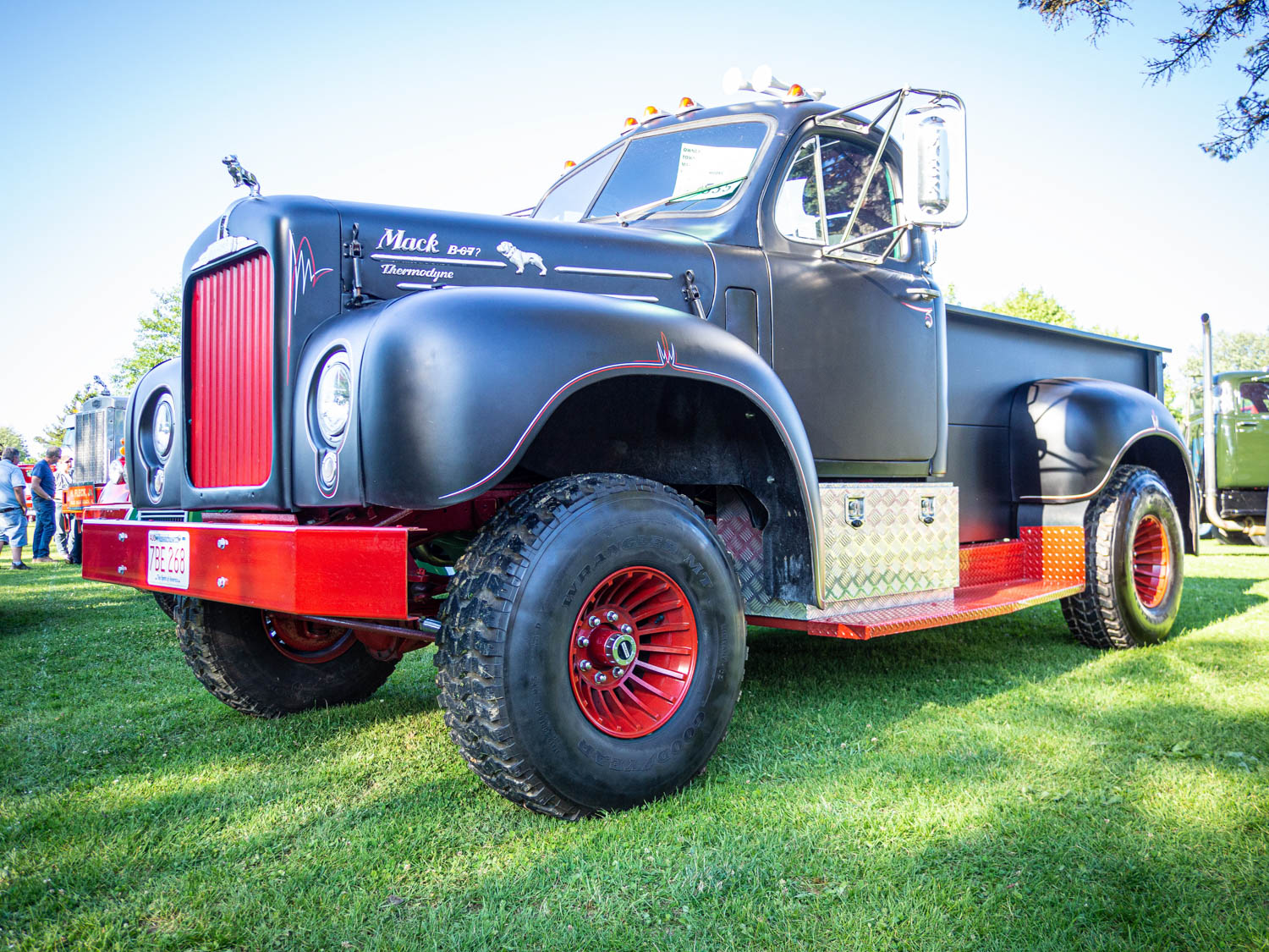 One of the largest pickup trucks you're likely to find, this custom 1962 Mack B67 conversion is powered by a Chevy big-block V-8.