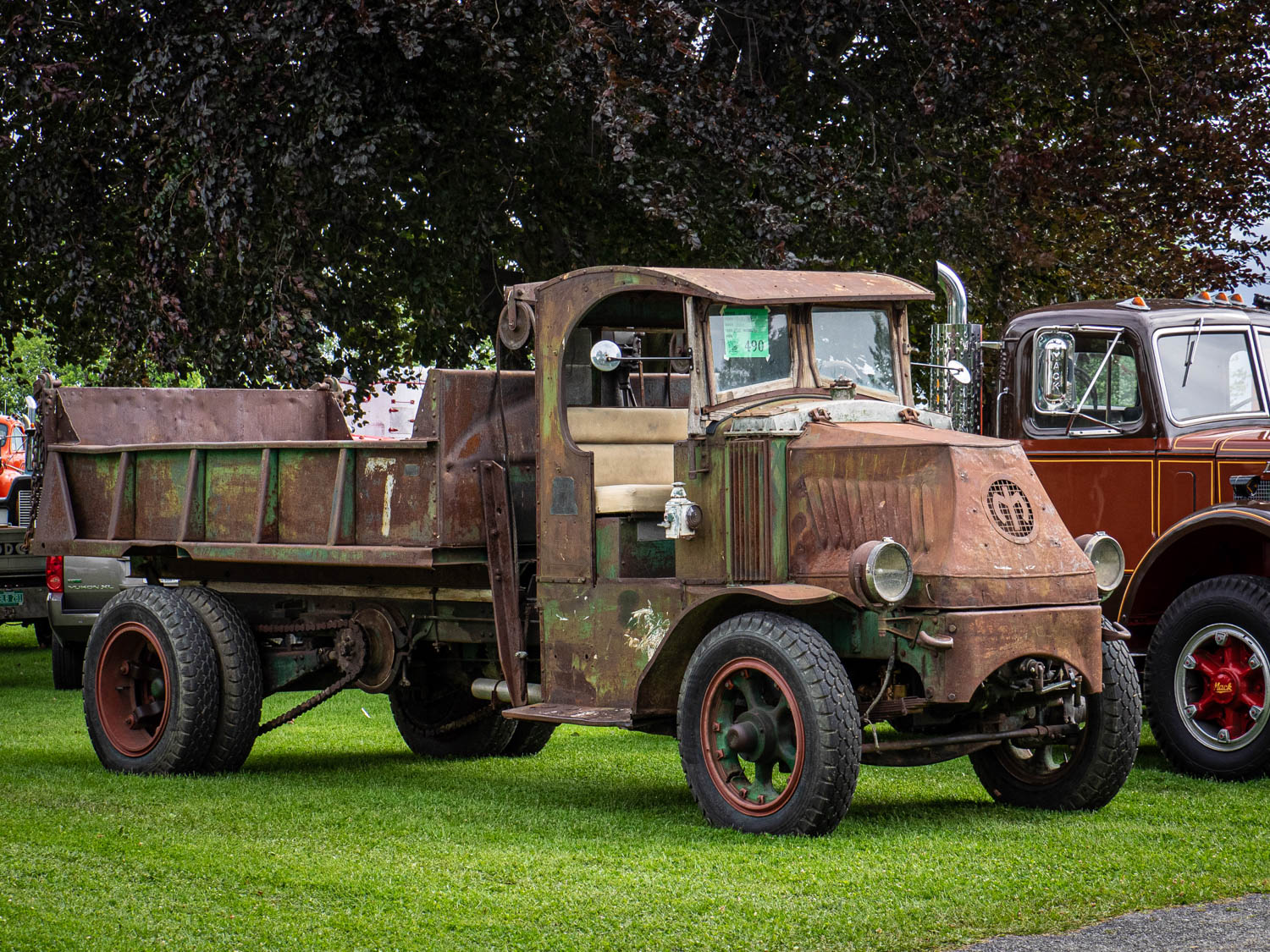 "This 1925 Mack AC was distinctly ""as-found."" The chain-driven truck is a nod to Mack's great heritage."