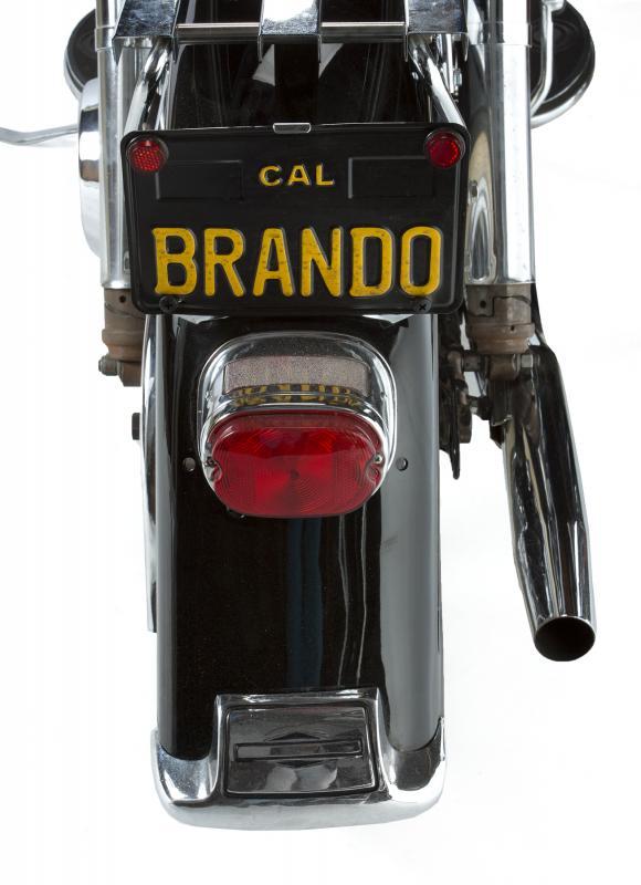 Marlon Brando Owned 1969 Harley-Davidson license plate