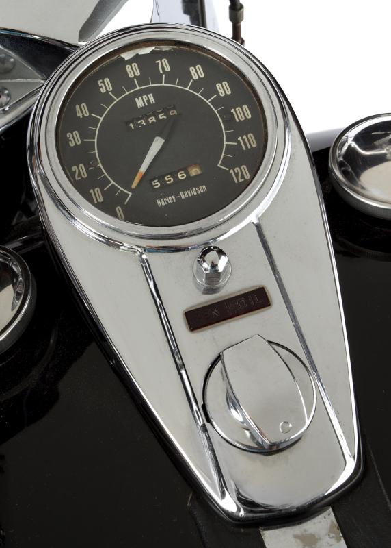 Marlon Brando Owned 1969 Harley-Davidson speedometer