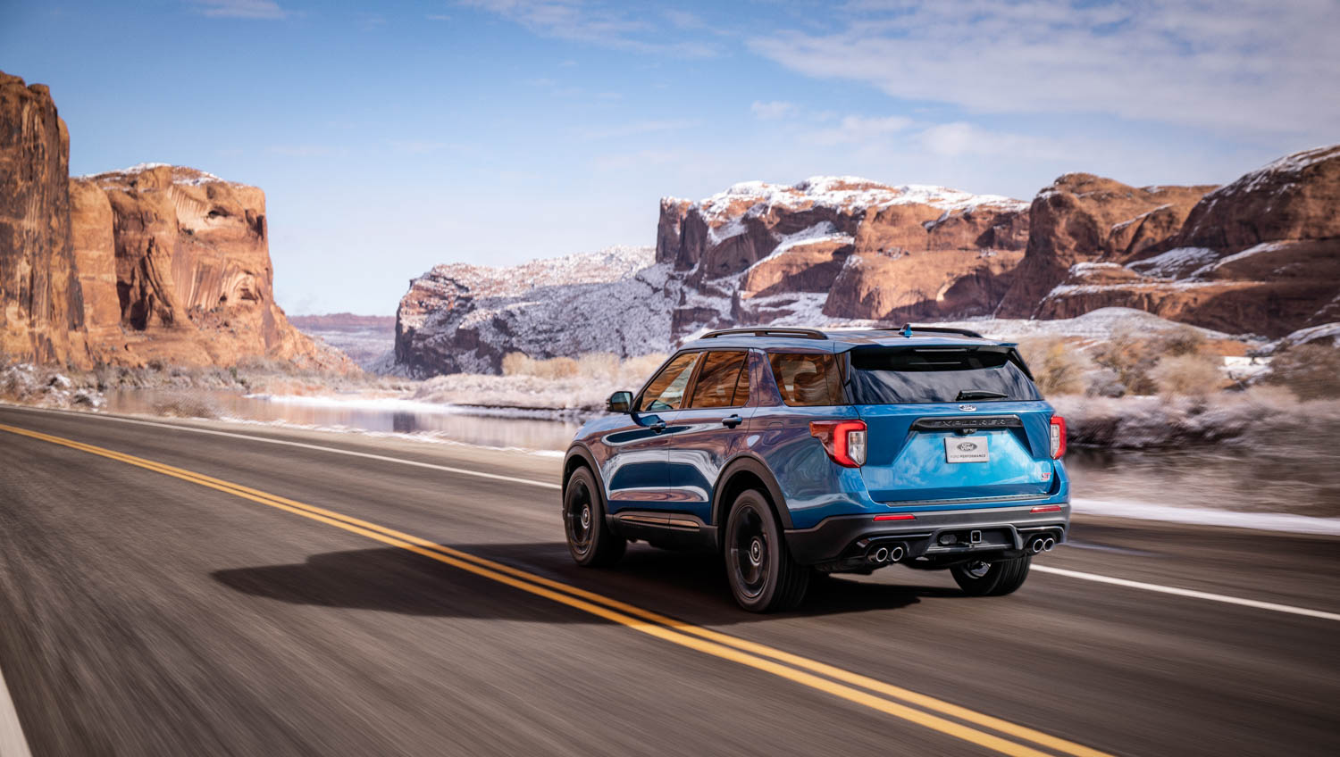 2020 Ford Explorer ST in the mountains