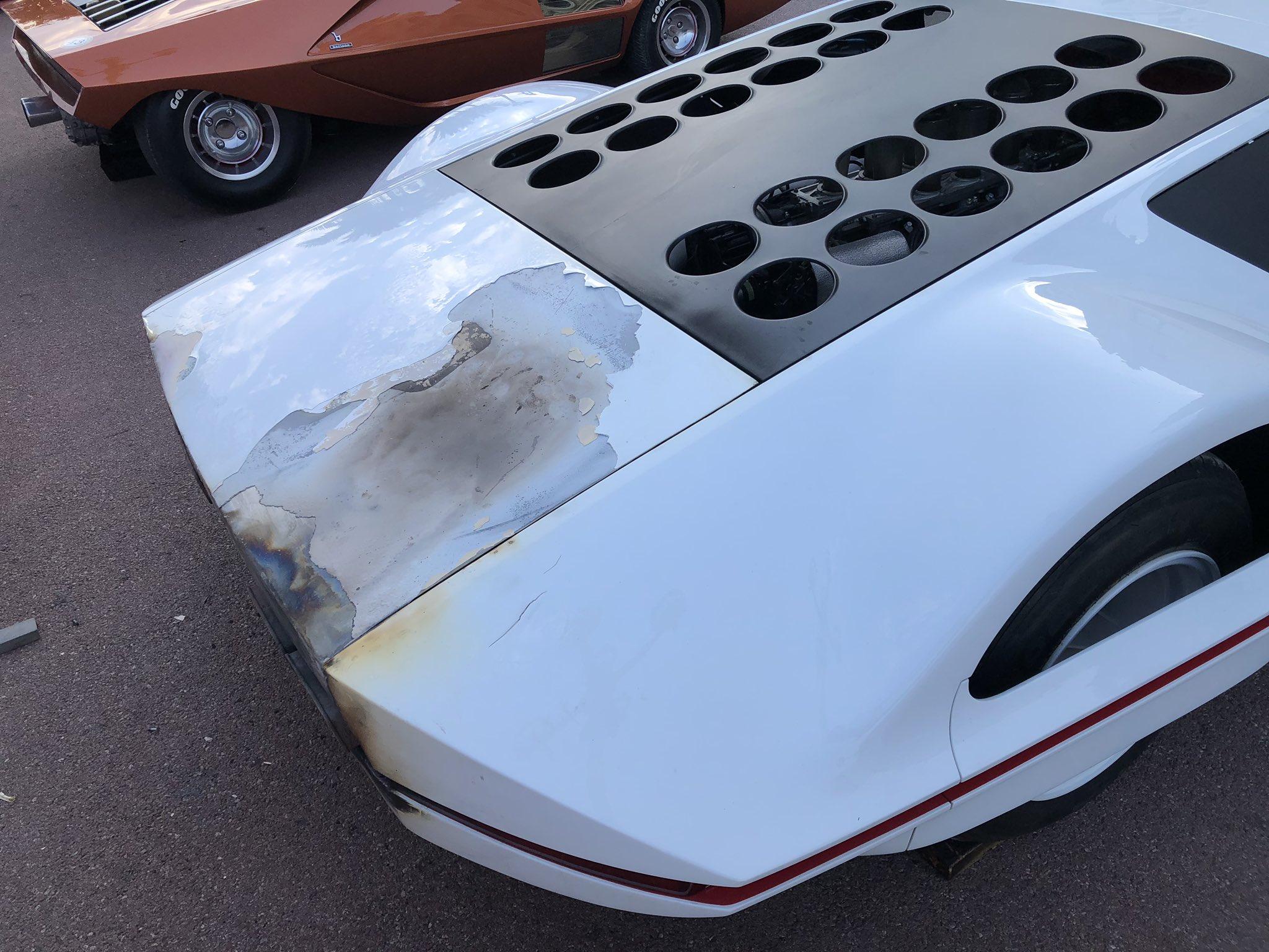 Ferrari Modulo fire damage