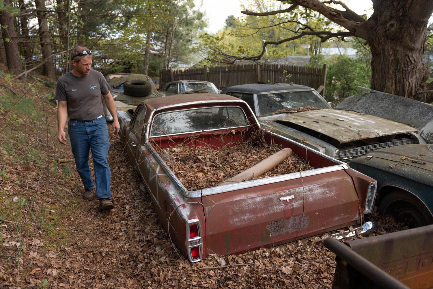 Davin Reckow checks out forgotten cars