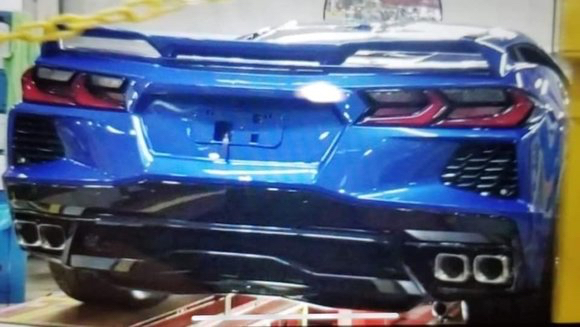 This mid-engine Corvette C8 rear end sure looks real