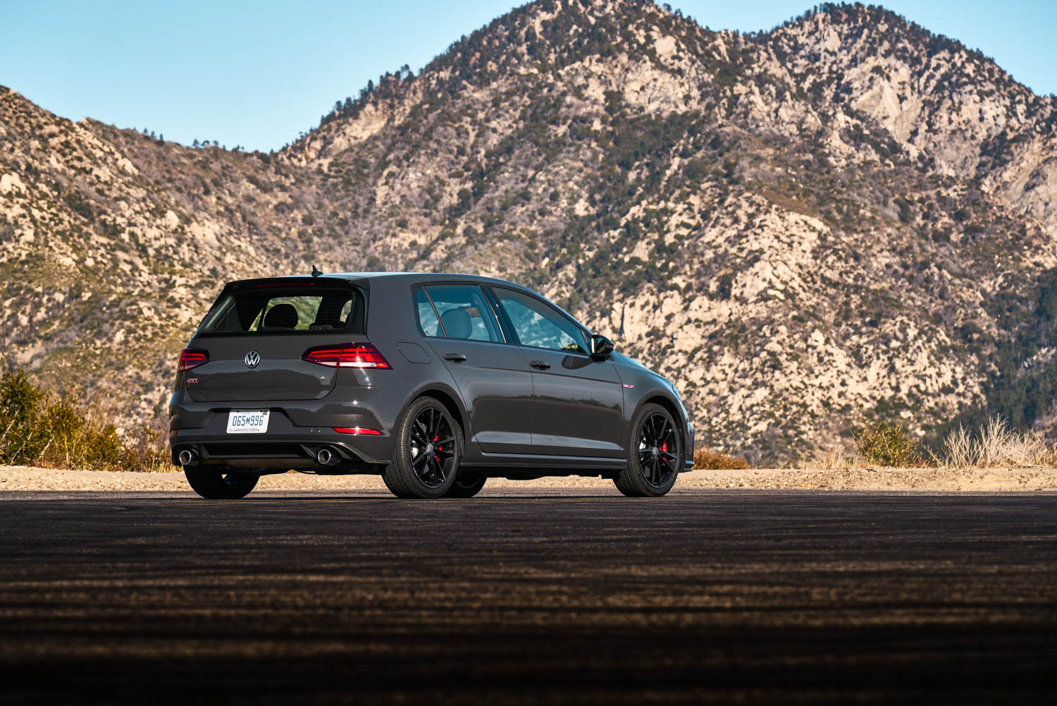 2019 Volkswagen GTI Rabbit Edition rear 3/4