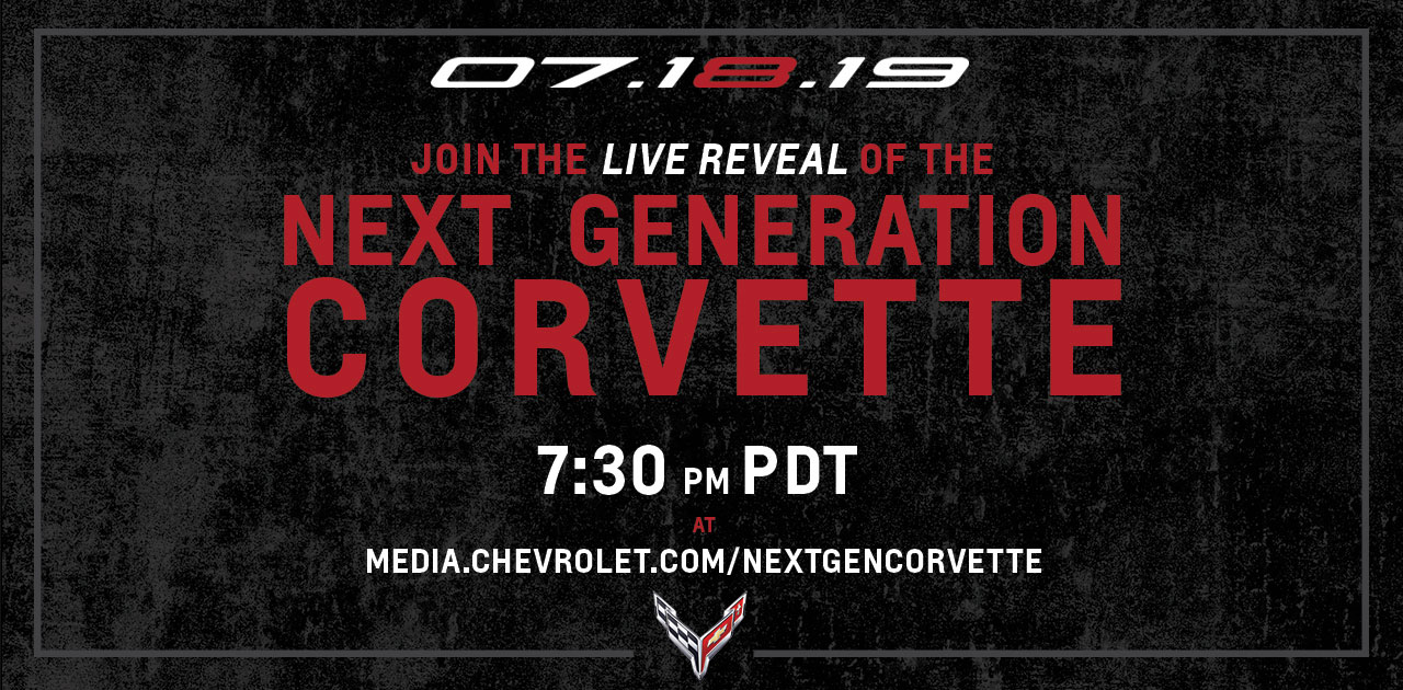 Chevrolet Corvette Livestream Reveal Banner