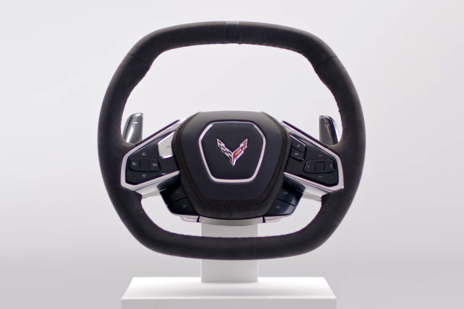 Chevrolet releases pics of the C8's steering wheel thumbnail