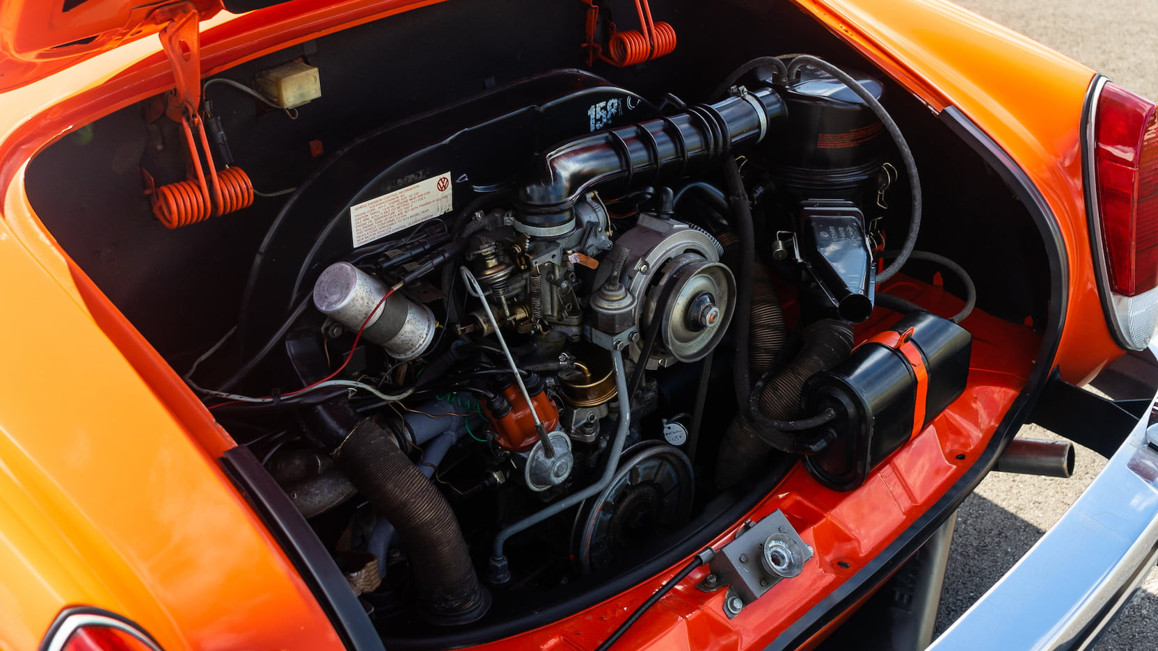 1974 Karmann Ghia engine