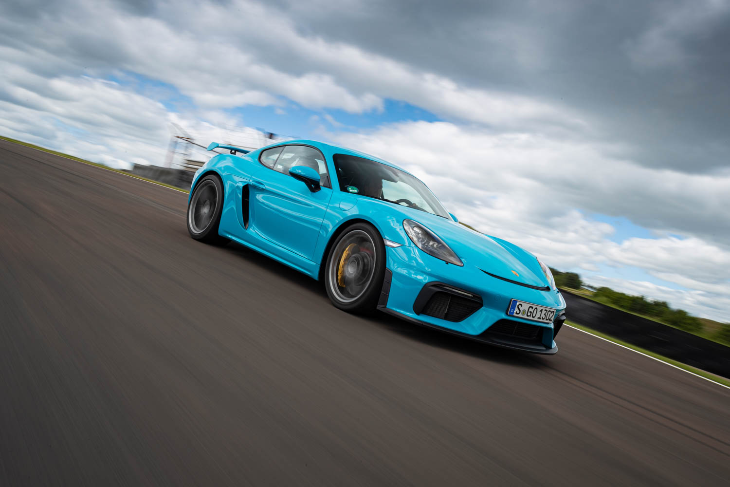 Porsche 718 Cayman GT4 on the track