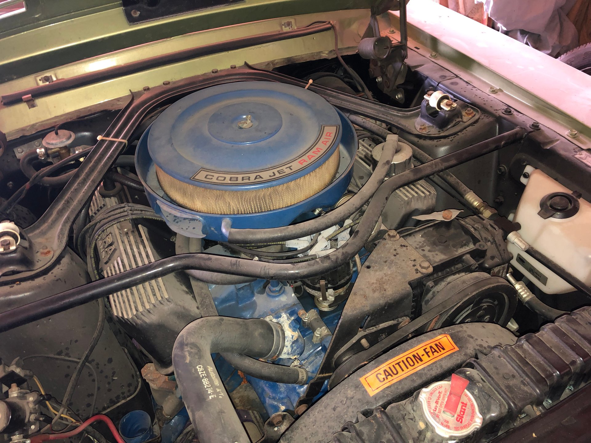 1968 Shelby GT500KR dirty engine