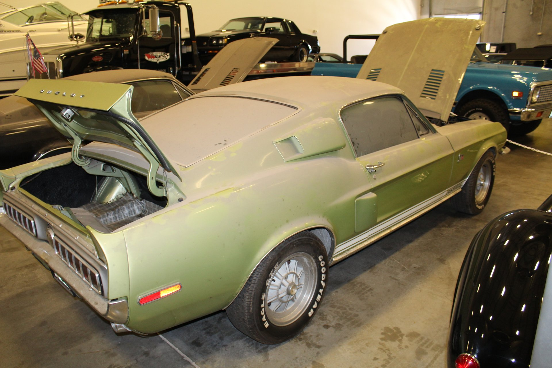 barn find 1968 Shelby GT500KR rear 3/4