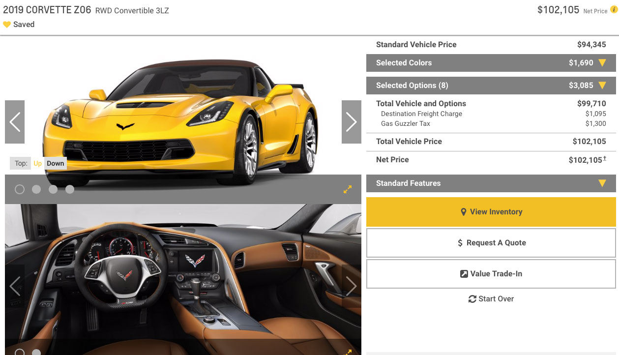2019 Corvette Z06 Convertible 3LZ