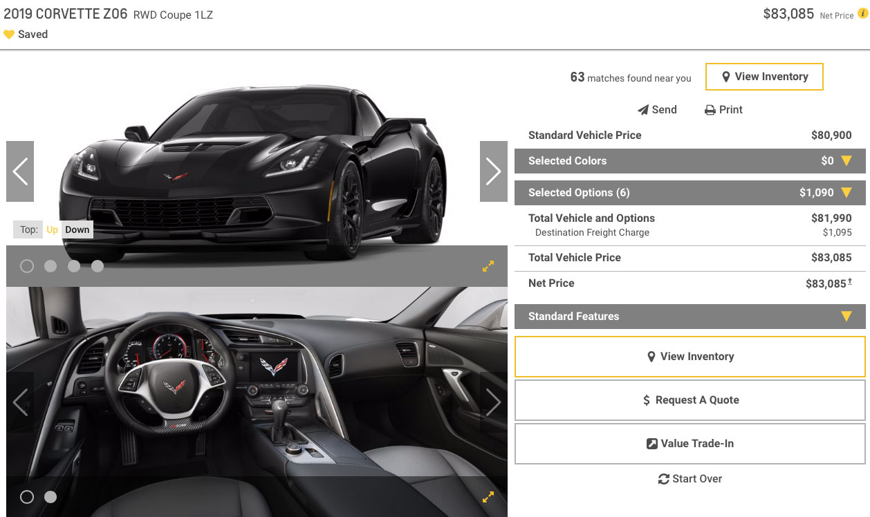 2019 Corvette Z06 Coupe 1LZ