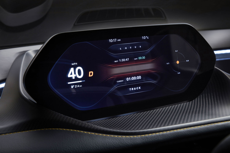 2020 Lotus Evija Dashboard