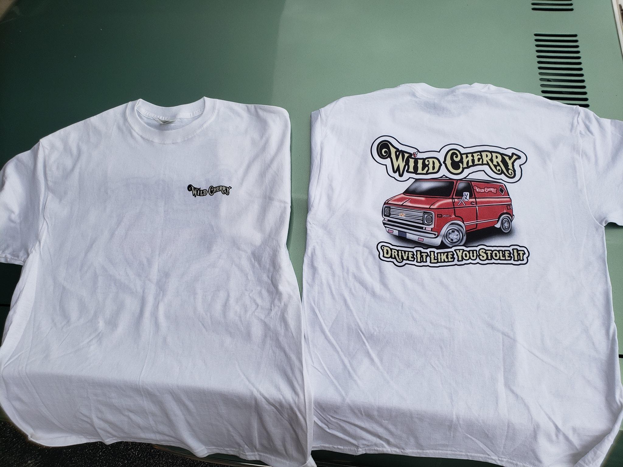Wild Cherry Van t-shirt sales